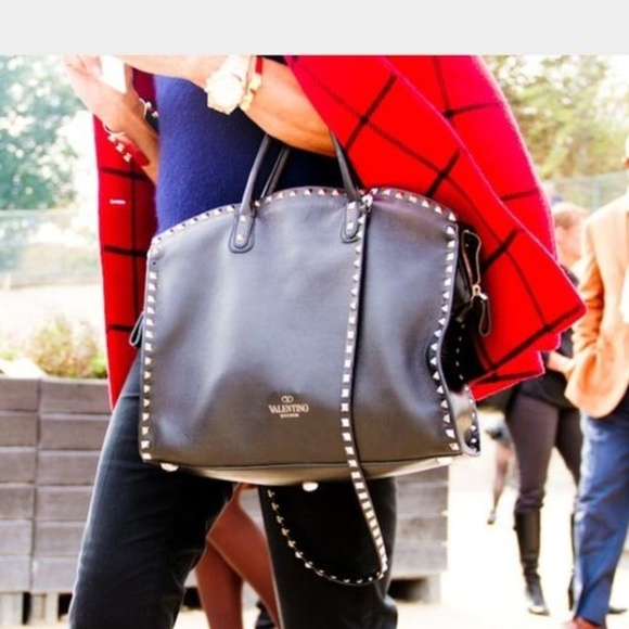 c61c5daba55b Valentino Vitello Rockstud Dome Leather Satchel. M 5c49f183aa57197b4fd96ce0